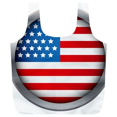 United Of America Usa Flag Full Print Recycle Bags (l)