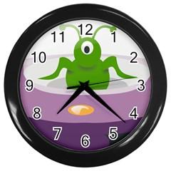 Ufo Wall Clocks (black)