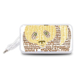 Panda Typography Portable Speaker (white)