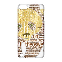 Panda Typography Apple Ipod Touch 5 Hardshell Case With Stand
