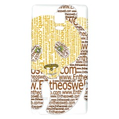 Panda Typography Galaxy Note 4 Back Case