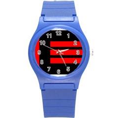 Master Slave Flag Round Plastic Sport Watch (s)