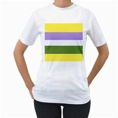 Bin Women s T Shirt (white) (two Sided)