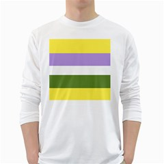 Bin White Long Sleeve T Shirts