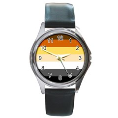 Brownz Round Metal Watch