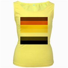 Brownz Women s Yellow Tank Top