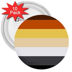 Brownz 3  Buttons (10 Pack)