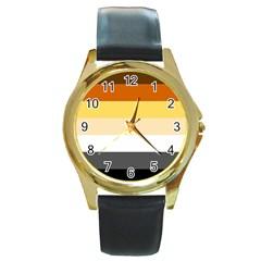 Brownz Round Gold Metal Watch