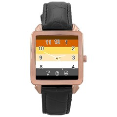 Brownz Rose Gold Leather Watch