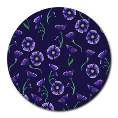 Floral Round Mousepads