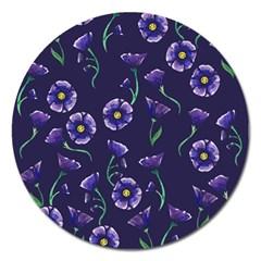 Floral Magnet 5  (round)