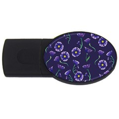 Floral Usb Flash Drive Oval (4 Gb)