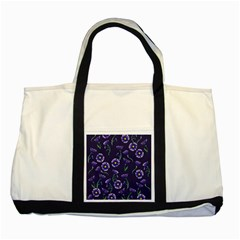 Floral Two Tone Tote Bag