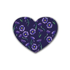 Floral Rubber Coaster (heart)