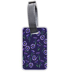 Floral Luggage Tags (one Side)