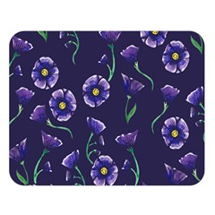 Floral Double Sided Flano Blanket (large)
