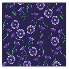 Floral Large Satin Scarf (square)