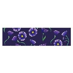 Floral Satin Scarf (oblong)