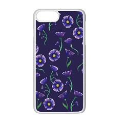 Floral Apple Iphone 7 Plus White Seamless Case