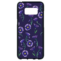 Floral Samsung Galaxy S8 Black Seamless Case