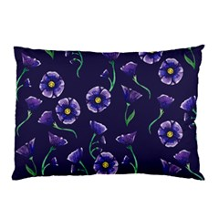 Floral Violet Purple Pillow Case (two Sides)