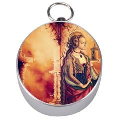 Fantasy Art Painting Magic Woman  Silver Compasses