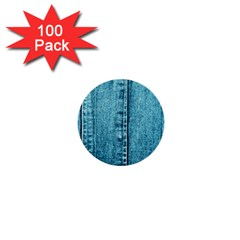 Denim Jeans Fabric Texture 1  Mini Buttons (100 Pack)