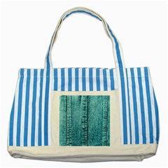 Denim Jeans Fabric Texture Striped Blue Tote Bag