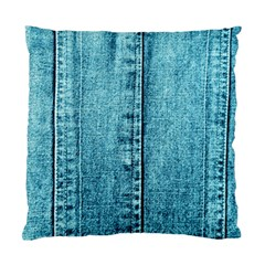 Denim Jeans Fabric Texture Standard Cushion Case (two Sides)