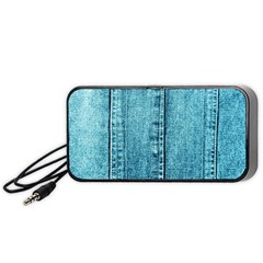 Denim Jeans Fabric Texture Portable Speaker (black)
