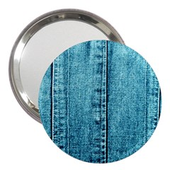 Denim Jeans Fabric Texture 3  Handbag Mirrors
