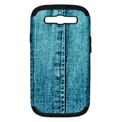 Denim Jeans Fabric Texture Samsung Galaxy S Iii Hardshell Case (pc+silicone)