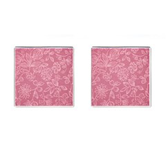 Floral Rose Flower Embroidery Pattern Cufflinks (square)
