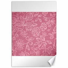 Floral Rose Flower Embroidery Pattern Canvas 12  X 18