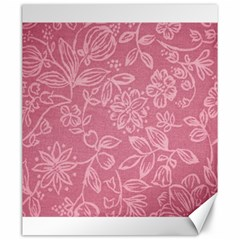 Floral Rose Flower Embroidery Pattern Canvas 20  X 24