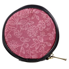 Floral Rose Flower Embroidery Pattern Mini Makeup Bags