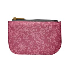 Floral Rose Flower Embroidery Pattern Mini Coin Purses