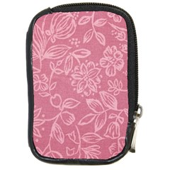 Floral Rose Flower Embroidery Pattern Compact Camera Cases