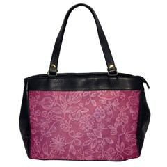 Floral Rose Flower Embroidery Pattern Office Handbags