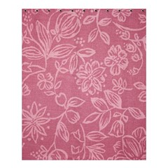 Floral Rose Flower Embroidery Pattern Shower Curtain 60  X 72  (medium)