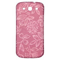 Floral Rose Flower Embroidery Pattern Samsung Galaxy S3 S Iii Classic Hardshell Back Case