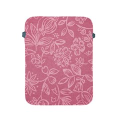 Floral Rose Flower Embroidery Pattern Apple Ipad 2/3/4 Protective Soft Cases