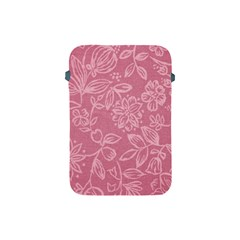 Floral Rose Flower Embroidery Pattern Apple Ipad Mini Protective Soft Cases