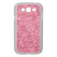 Floral Rose Flower Embroidery Pattern Samsung Galaxy Grand Duos I9082 Case (white)
