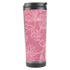 Floral Rose Flower Embroidery Pattern Travel Tumbler