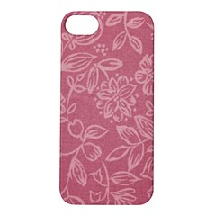 Floral Rose Flower Embroidery Pattern Apple Iphone 5s/ Se Hardshell Case