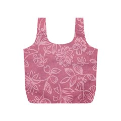 Floral Rose Flower Embroidery Pattern Full Print Recycle Bags (s)