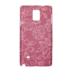 Floral Rose Flower Embroidery Pattern Samsung Galaxy Note 4 Hardshell Case