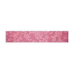 Floral Rose Flower Embroidery Pattern Flano Scarf (mini)