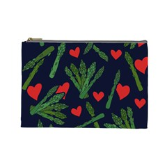Asparagus Lover Cosmetic Bag (large)